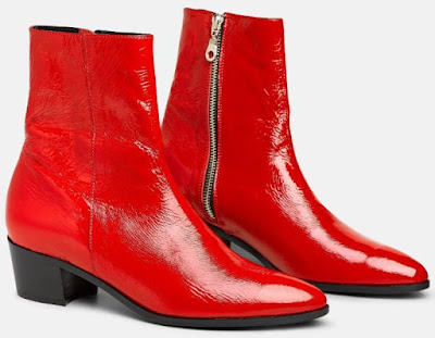 Santa Monica Boots in red patent leather
