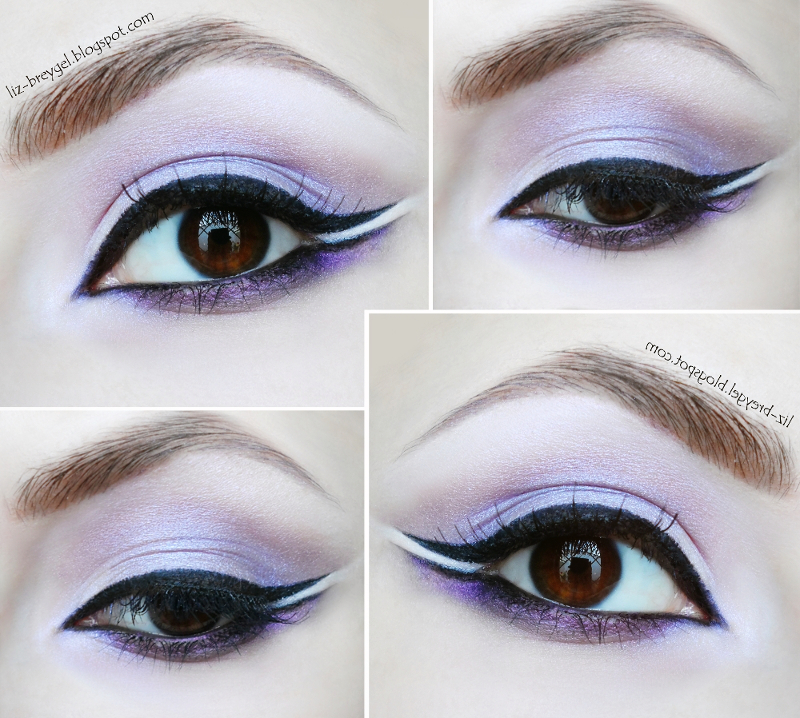 Madison Street Beauty makeup look purple makeup