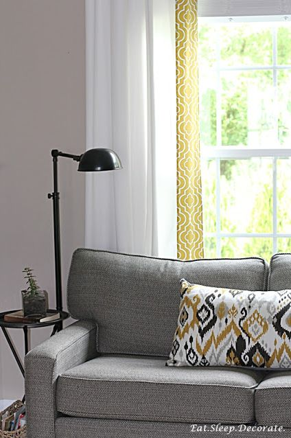 Adding Trim to IKEA Drapes