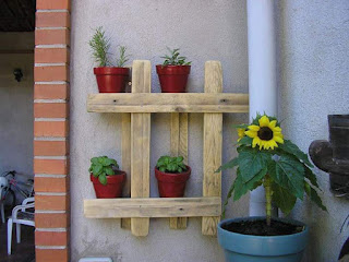 palets de madera para colocar macetas