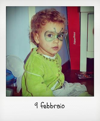 Maschera Carnevale bebè
