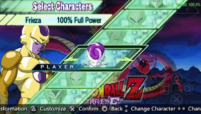 in Dragon Ball Z Shin Budokai 2 Mod Fukkatsu PSP