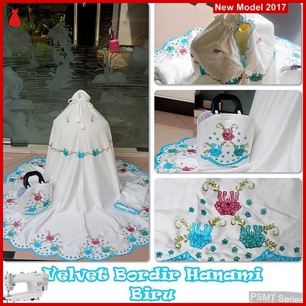 PSMT194A Mukenah Bali Angel Bordir Hanami Biru