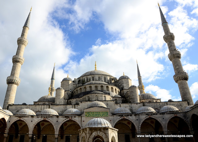 Istanbul's crown jewel under the blue Autumn sky