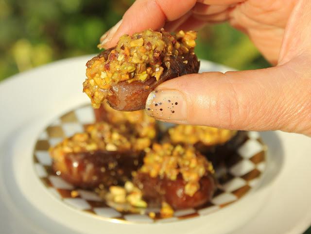 Pistachio Stuffed Dates. Organic Gluten-free Recipe