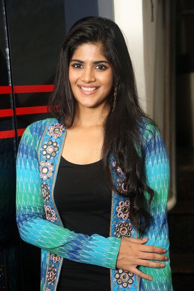 Actress Megha Akash Stills at LIE Movie Success Meet