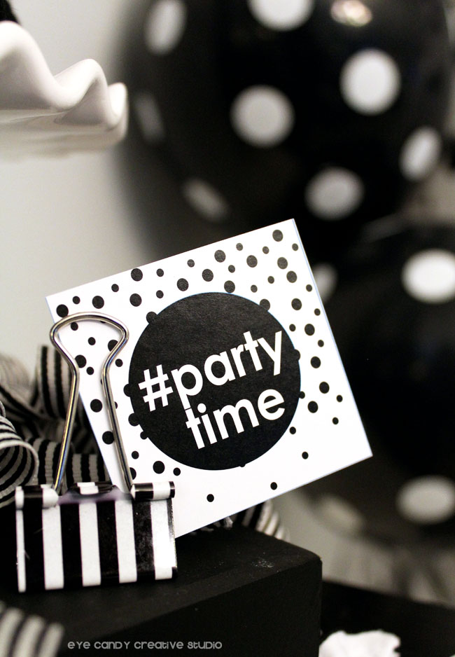 partytime, teen birthday party ideas, black & white party, emoji party