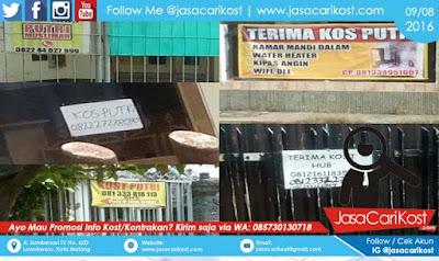 Info Kost Putri di Malang