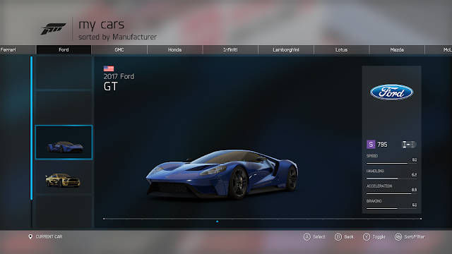 Forza Motorsport 6 - Garage  |  ForGamersLikeMe.com