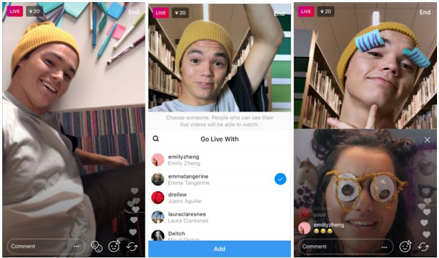 Go live with friends instagram app