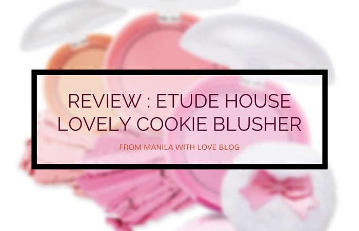 etude house lovely cookie blusher review swatch