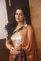 Udaya Bhanu lookssizzling in a Saree Choli at Gautam Nanda music launchi ~ Exclusive Celebrities Galleries 087.JPG
