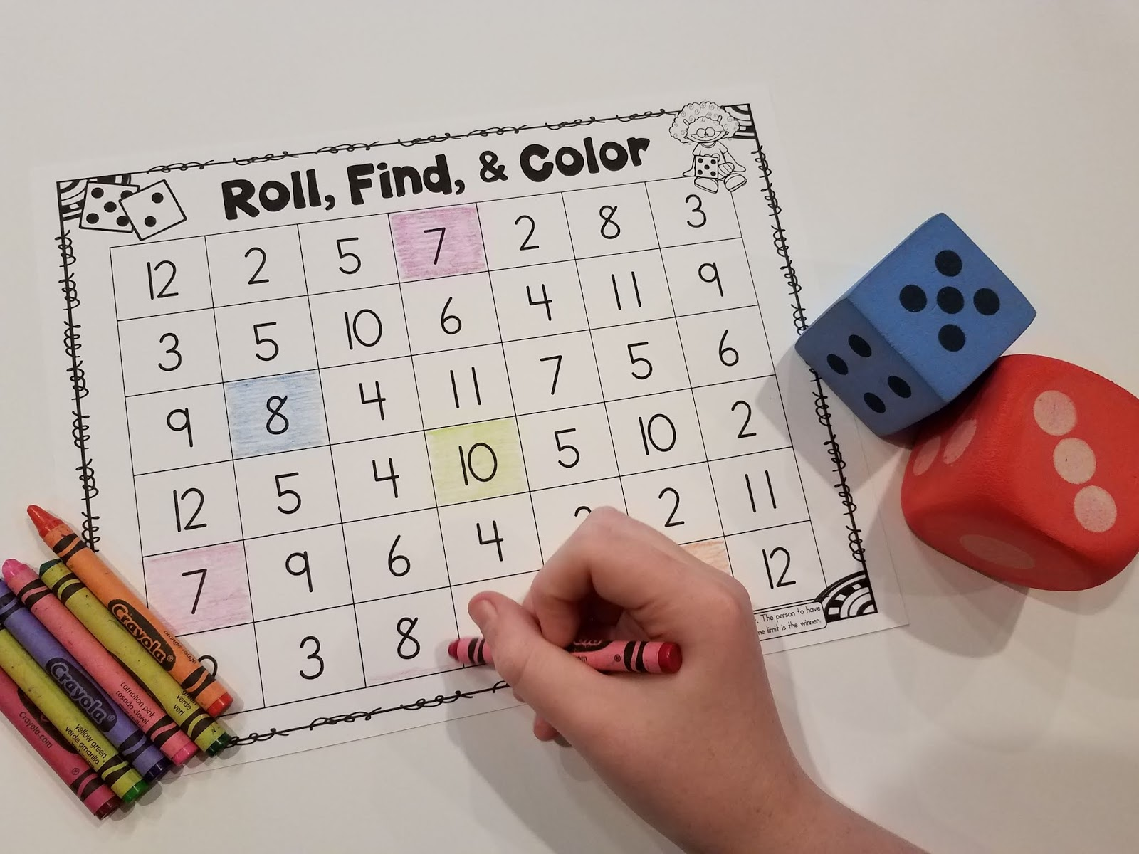 14 Dice Games For Kindergarten Math