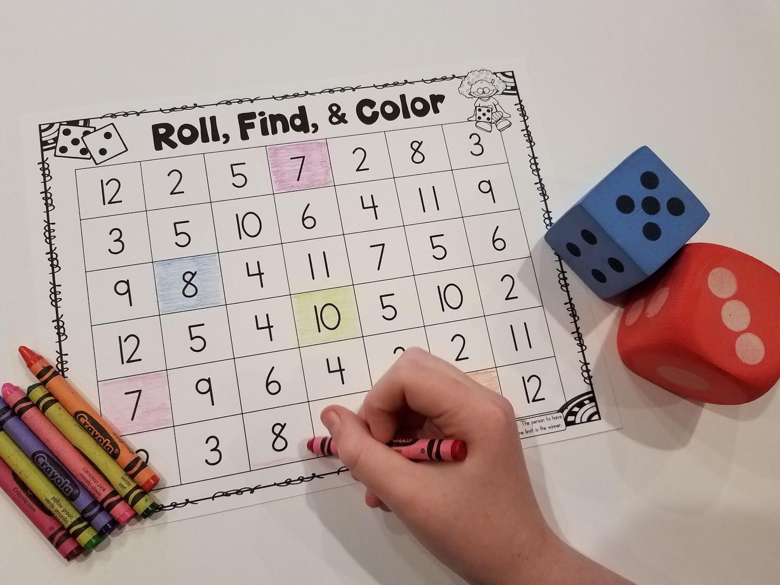 14 Dice Games for Kindergarten Math | Mrs. McGinnis' Little ...