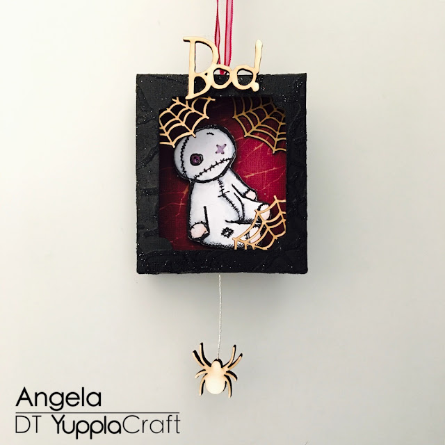 Boo Shadow Box by Angela Tombari for Yuppla Craft Design Team