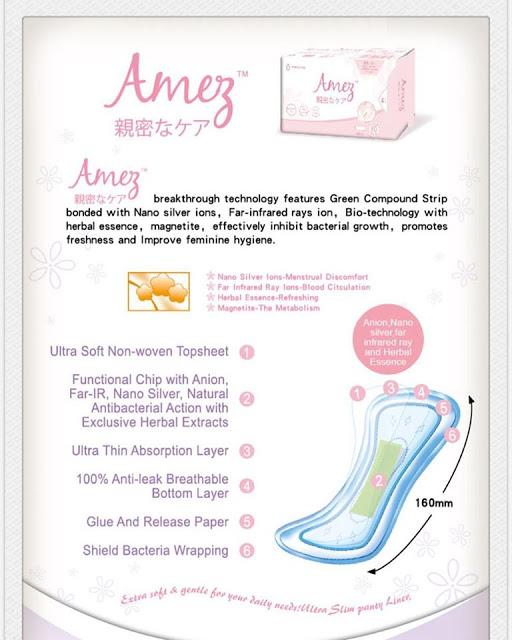 amez care bio herbal sanitary pad