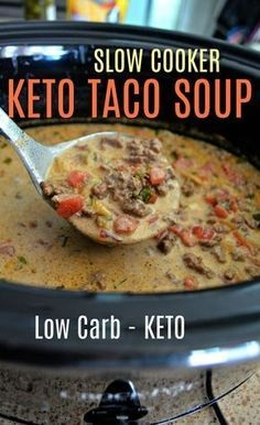 Slow Cooker Keto Taco Soup
