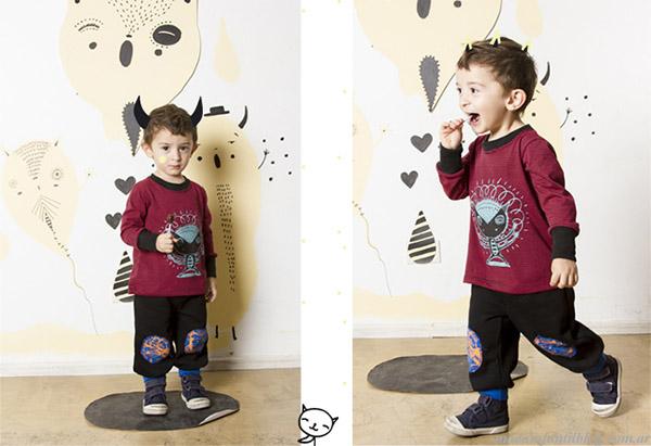 Moda otoño invierno 2015 Haz lo que Quieras pantalones y remeras para nenes.