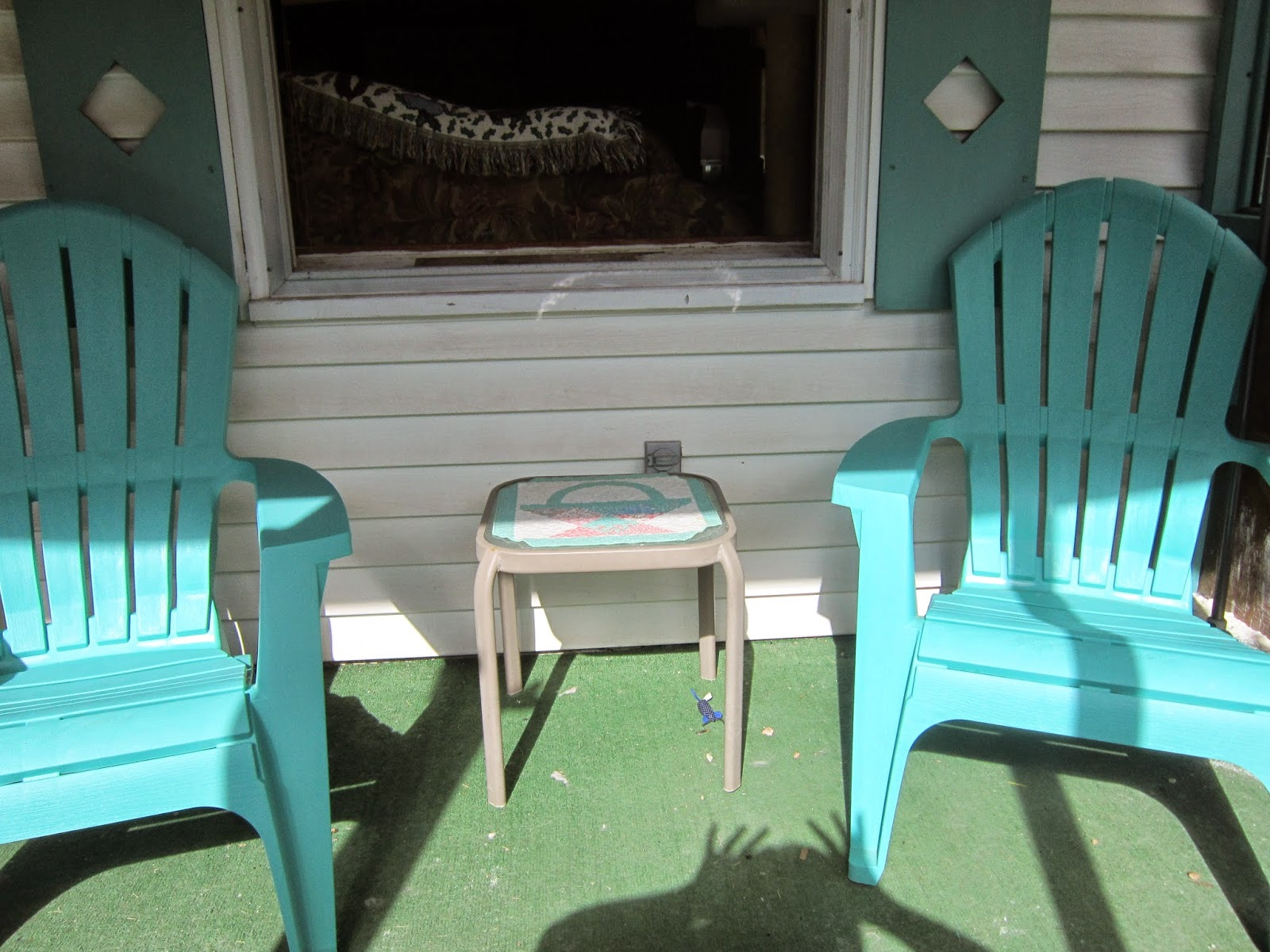Teal Adirondack Chairs Missy 39s Homemaking Adventures Front Porch Furniture