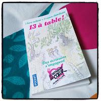 livre 13 à table ! pour les restos du coeur