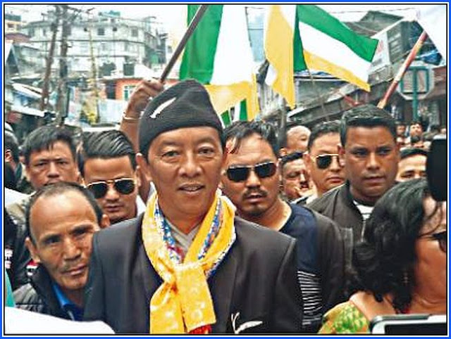 Binay Tamang files nomination for Darjeeling Assembly bypoll