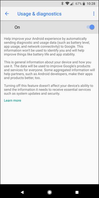 Condivisione di informazioni di altri utenti Android