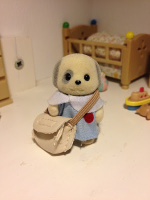 Sylvanian Families Nursery Figure set Patches Dog Baby