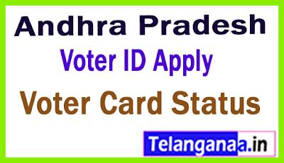 Andhra Pradesh Voter ID Apply - Voter ID Status