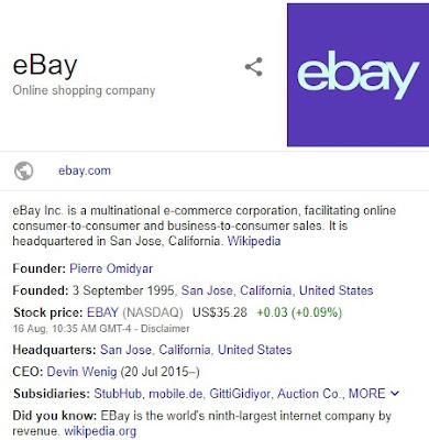 Ebay Online shopping portal