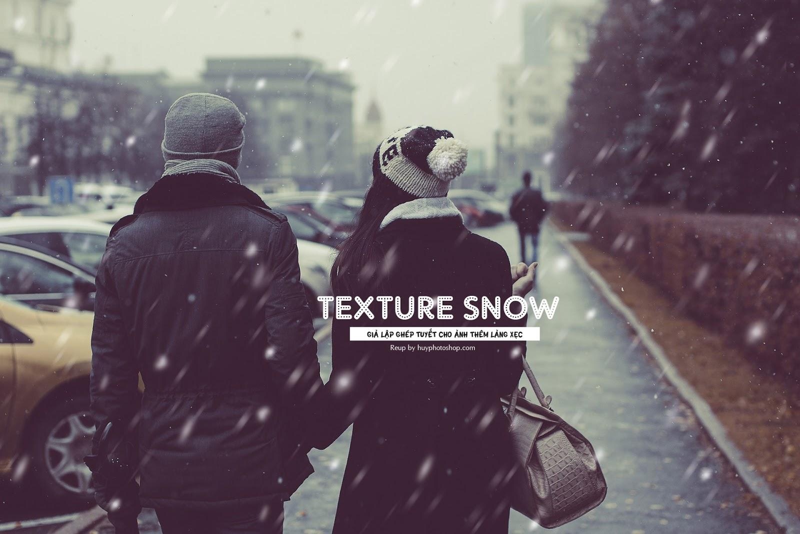 Chia sẻ file snow texture dùng cho ghép giả lập tuyết rơi