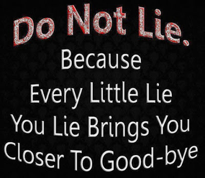 dont be lie