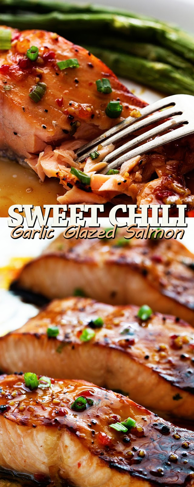 SWEET CHILI GARLIC GLAZED SALMON