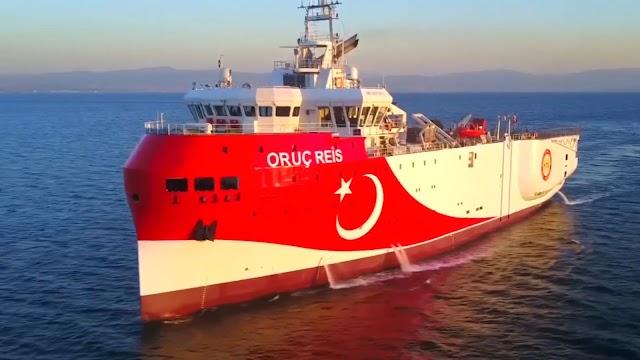 Το Oruc Reis όχι μόνο δεν εγκαταλείπει την ελληνική υφαλοκρηπίδα αλλά αγκυροβολεί σε αυτήν ως 23 Αυγούστου