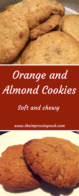 Orange and Almond Cookies Pinnable image