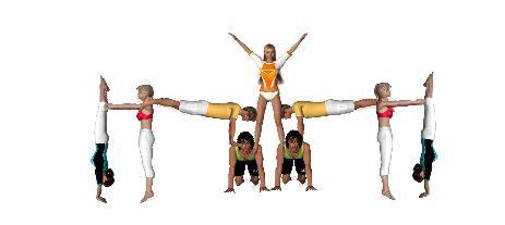 Figuras De Acrosport 7 Personas