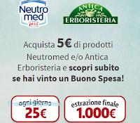 Logo Coon Neutromed e Antica Erboristeria vinci 359 buoni Valassis da 25€ e 1 da 1.000€
