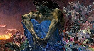 сидящий демон врубеля как олицетворение личности загадочной и необъяснимой