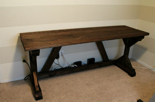 DIY Farmhouse Style Desk - Away She Went