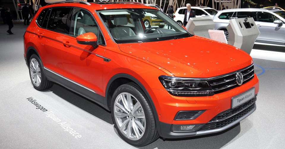europe enjoys its first sight of the vw tiguan allspace. Black Bedroom Furniture Sets. Home Design Ideas