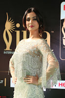Sonal Chauhan in a stonework Floor Length Silver Designer Gown at IIFA Utsavam Awards March 2017 022.JPG