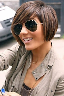 cute short bob with highlights