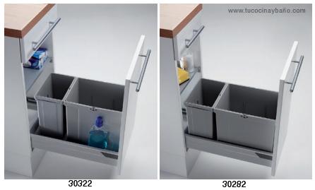 Cubos basura caj n de 30 45 y 50 tu cocina y ba o for Cubos de basura cocina