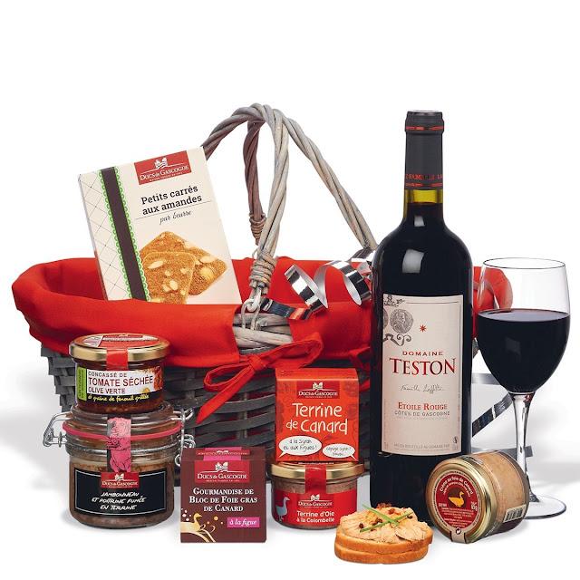 Coffret cadeau gourmand : Offrir Panier garni gastronomique pas cher