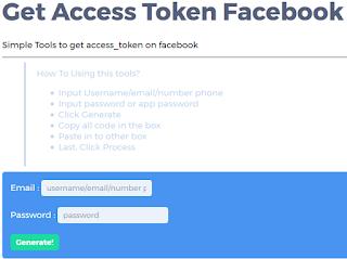 Situs Mengambil Access Token Facebook Terbaru