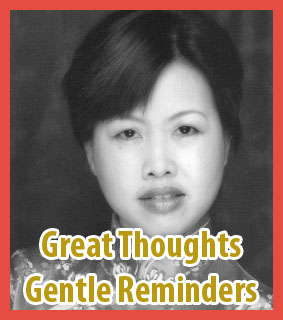 great thoughts and gentle reminders by Zen Fú-yún