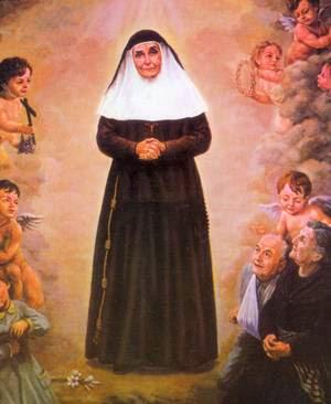 Cuadro Santa Angela de la Cruz - 1982