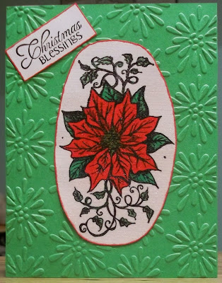Our Daily Bread Designs, Cardinal Ornament, Poinsettia
