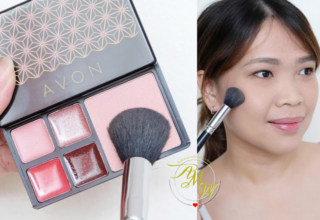 a photo of Avon True Color Stellar Celebration Makeup to go Palette review and look by Nikki Tiu of www.askmewhats.com