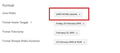 Sobat tinggal ganti dengan mengklik opsi Format dan sesuaikan dengan zona waktu Sobat. Zona Waktu WIB Sobat pilih (GMT+07.00) Jakarta. Untuk zona waktu WITA Sobat pilih (GMT+08.00) Makassar. Dan bagi Sobat yang berada di zona waktu WIT, Sobat pilih (GMT+09.00) Jayapura.