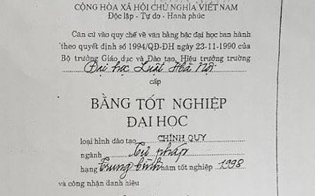 """Thẩm phán TAND TP. Thái Nguyên dùng bằng giả thi đại học: """"Bác"""" đề nghị phục hồi bằng cử nhân luật"""